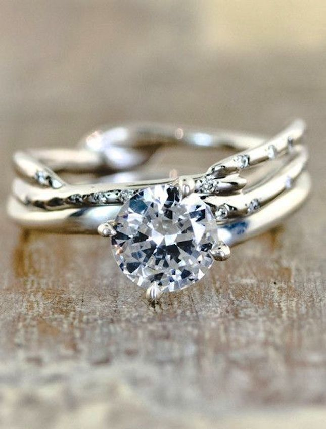 14 non traditional engagement rings we say yes to - One Of A Kind Wedding Rings