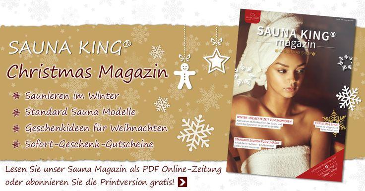 Möchten Sie unser Sauna Magazin per Post erhalten? Hier können Sie es gratis abonnieren!  #Saunaking #Christmas_magazin