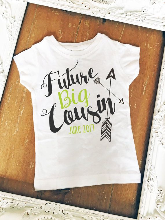 Future Big Cousin Boho Arrows Older Cousin Youth by MackiejoandCo so cute to do with big brother or sister