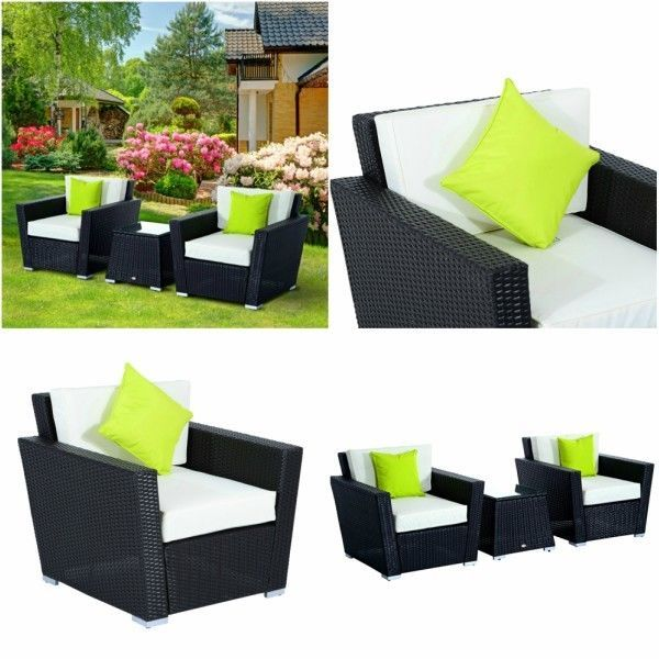 Luxury Garden Furniture Set Rattan Table And Chairs Patio Outdoor Sofa  Cushions