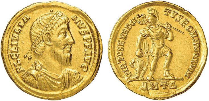 NumisBids: Nomisma Spa Auction 50, Lot 37 : ROMA IMPERO Giuliano II (361-363) Solido (Antiochia) Busto diademato...