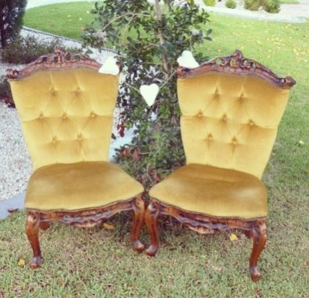 Vintage queen chairs available for hire - great for weddings, a Mad Hatters tea party or any vintage styled event!