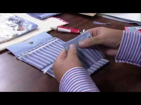 Passo a Passo de uma carteira em tecido por Taís H. Fávero - YouTube