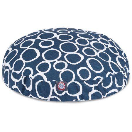 Fusion Large Round Dog Bed, Blue