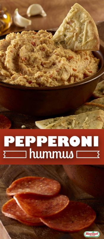 """Pepperoni Hummus Recipe adapted for Hormel Foods and used with permission from """"Going Crazy! Wanna Go?"""" blog"""