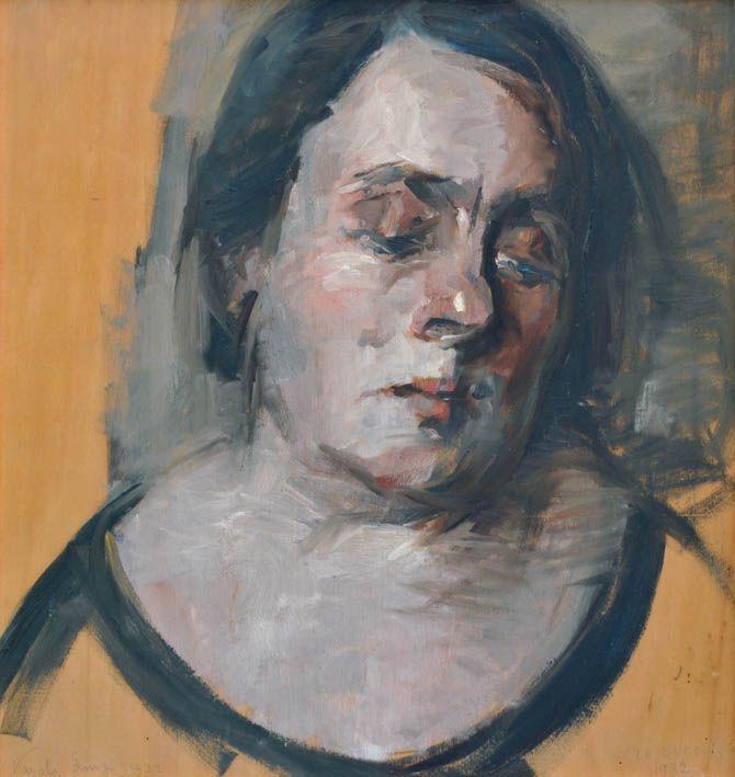 Luigi Varoli/Ritratto della moglie Anna/1932/olio su tavola, cm57x53,5/collezione privata Lugo RA