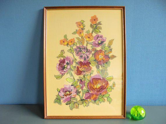 Naaldkunst originele art quilt kunst aan de muur vintage