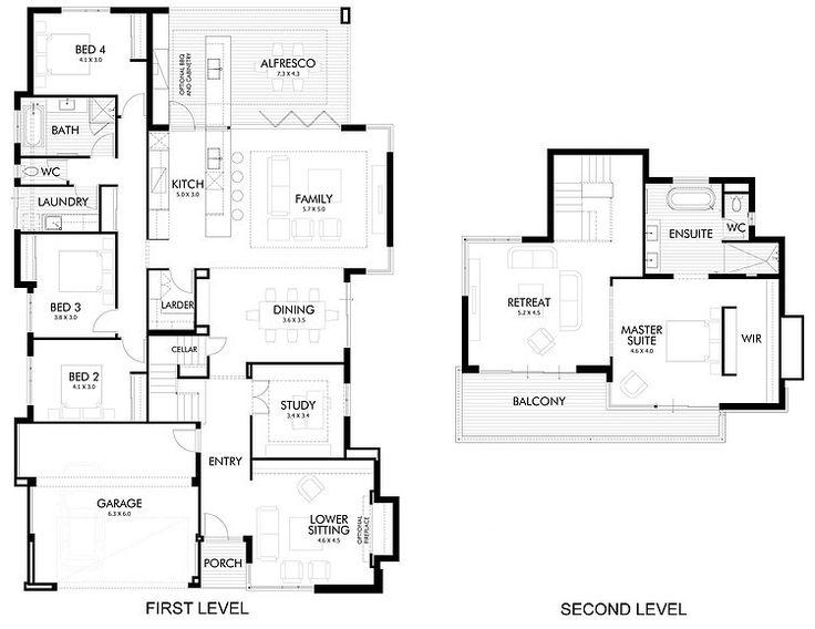139 best plans townhouses 2 storeys images on Pinterest | Floor ...