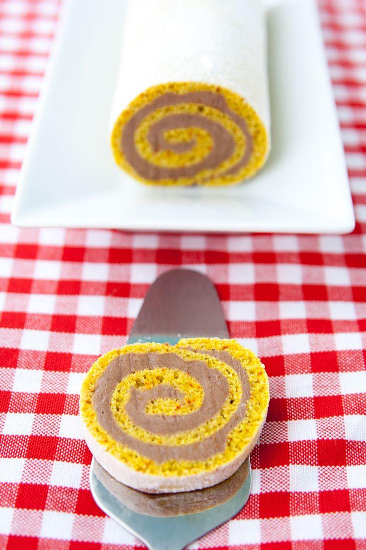 Saffransrulltårta med apelsinchokladsmörkräm | Baker vs. Runner