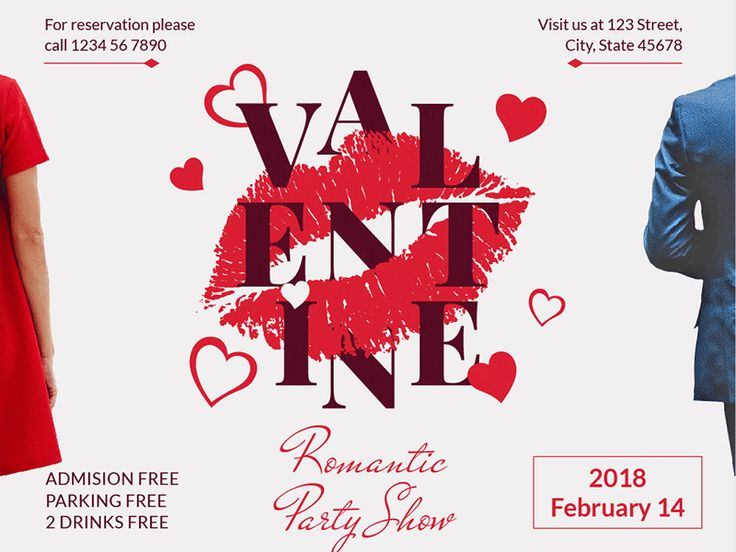 Valentine's Day Party | Modern and Creative Templates Suite:   A new concept with the series of graphic templates for branding print promo and advertising. We developed 74 formats that will surely fit your needs and save the time. Take a look at our separate collections of Posters Flyers Business Cards Web Banners Social media covers and posts and specially formed packs for Branding Promo and Print. Your time is your life appreciate it! Don't miss the full package here: