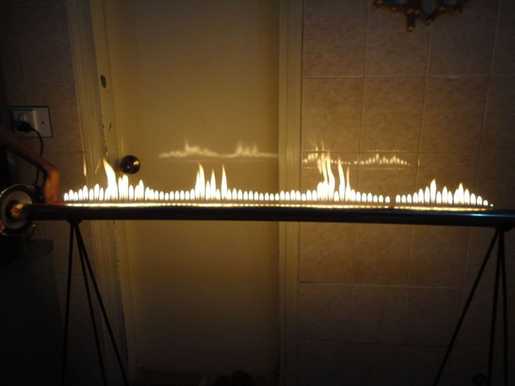 Gas fire, that moves with the music  http://www.instructables.com/id/How-to-make-a-Rubens-Tube/