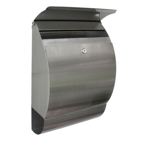 Update your mail box with this sleek, modern design made of stainless steel. This mail box is made to wall mount and has a lock to keep your mail secure (two keys included). Features - Material: Heavy