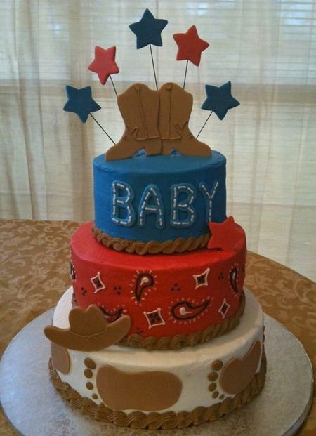 cowboy themed baby shower cake cakes too cute to cut pinterest