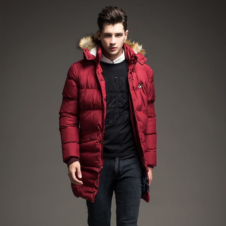 2016 New Winter Men Down Parkas Down Thick Warm Long Lower
