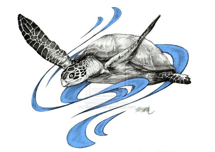 25 best images about Sea Turtle Tats on Pinterest  Sea turtles