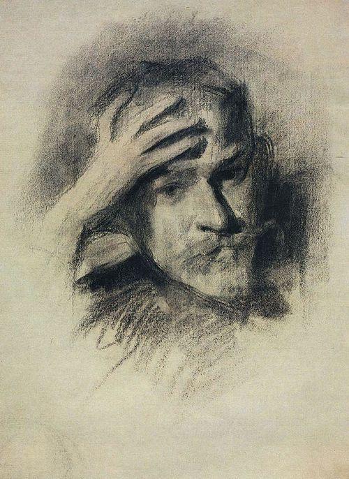 Виктор Борисов-Мусатов (1870-1905) Victor Borisov-Musatov - Автопортрет (1904-1905). Self-portrait (1904-1095)