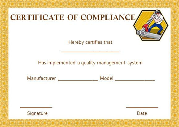 16 best certificate of compliance images on pinterest for Reach certificate of compliance template