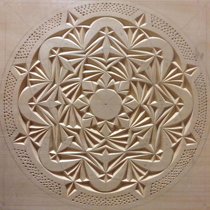 """Kaleidoscope"" #chipcarving #woodwork"