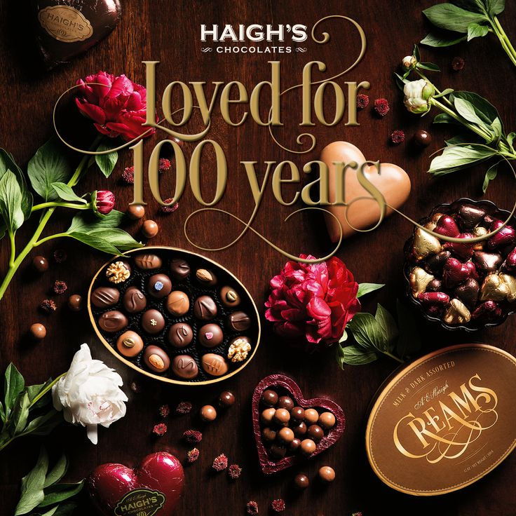 Loved for 100 years Haigh's 2016 Valentine's Day Range