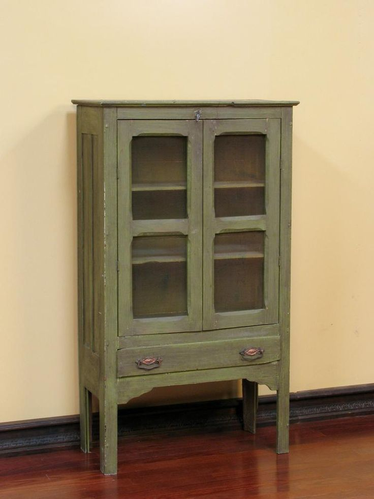 Vintage Pie Cabinet | Antique Painted Pie Safe / Cabinet