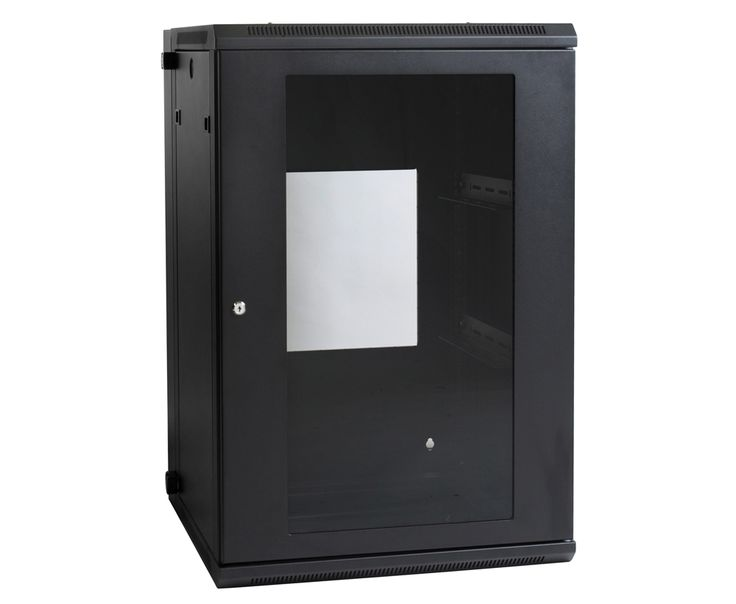"Wall Mount Swing Frame Cabinet 18RU 600mm. Our range of 19"" Swing Frame Racks provides all the unique features you have come to enjoy on our wall mount range with the added swing-away feature. When additional, uncompromised access is required, the enclosure can be unlocked and swung away from the wall allowing full access to the rear of your equipment for installation and/or regular servicing."