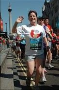 One of our lovely supporters, Karen Gardner running the BUPA 10k for us in 2012