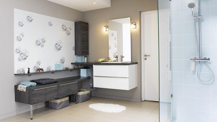 salle de bain light meuble de salle de bains blanc