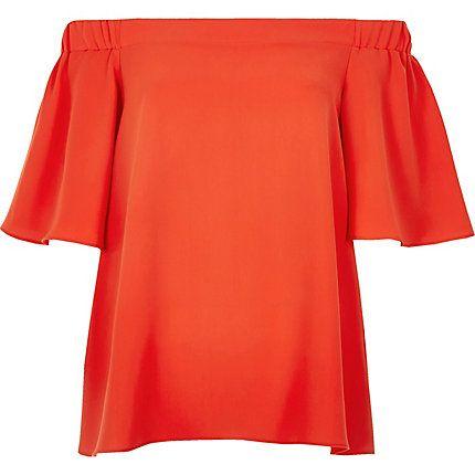 Red bardot top £25.00