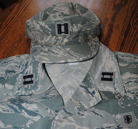 Rank added to hat & BDU's Military Work Davina Dawn
