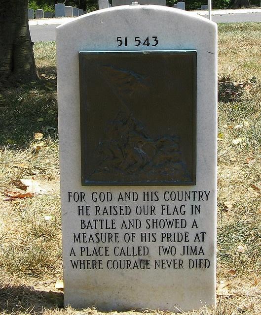 Rene Gagnon, Iwo Jima Flag Raiser at Arlington Cemetery VA
