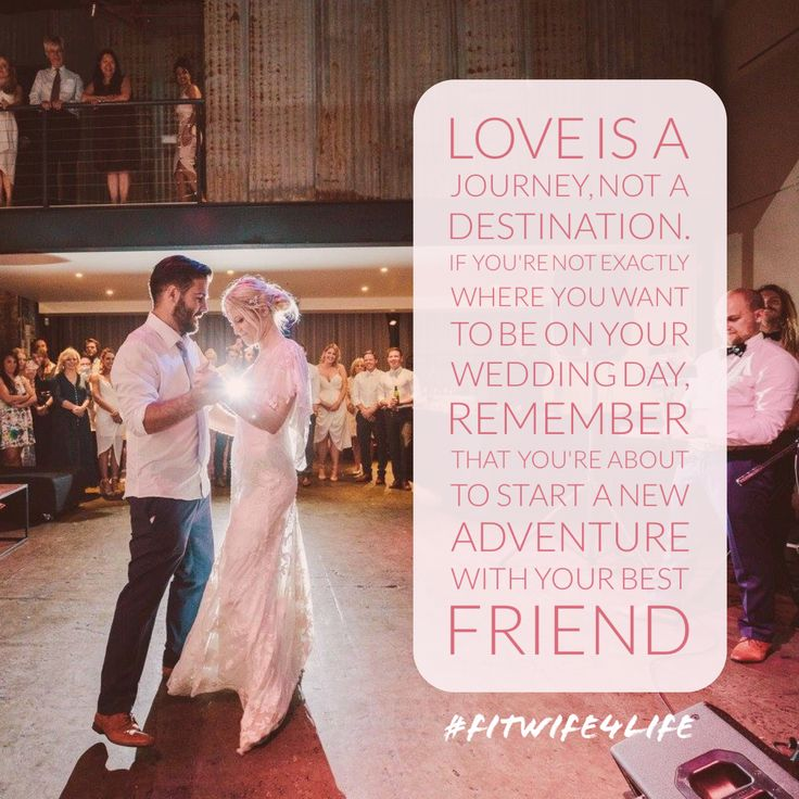 Love is a journey, not a destination. If you're not exactly where you want to be on your wedding day, remember that you're about to start a new adventure with your partner in crime #loveisajourney #weddingday #partnerincrime #eatplaylove #bridalicious #fitwife4life @fitwife4life
