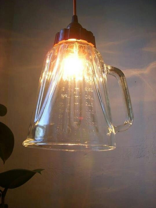 Great idea for a kitchen pendant light.