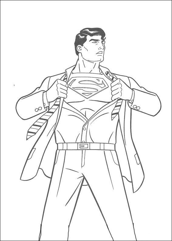 Dibujos para Colorear Superman 22