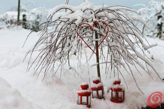 L'incanto della neve e qualche lanterna...è Natale!!!