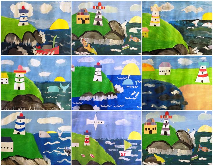 Maud Lewis Lighthouse Mix Media - Deep Space Sparkle