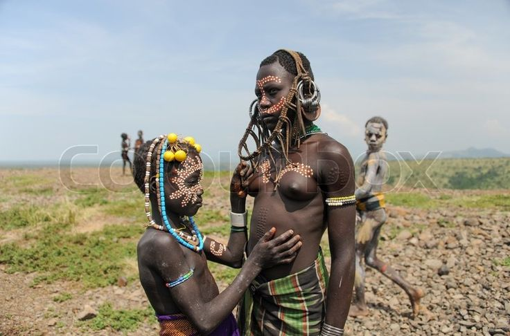 Editorial image of 'Mursi tribe from Ethiopia' https://www.colourbox.com/image/mursi-tribe-from-ethiopia-image-7917555