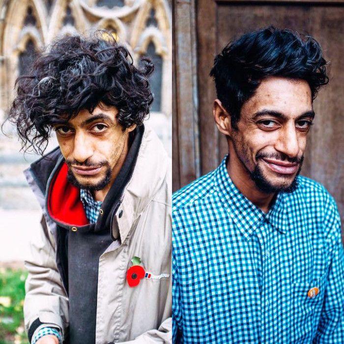 Barbiere taglia i capelli gratis ai senzatetto per le strade della città