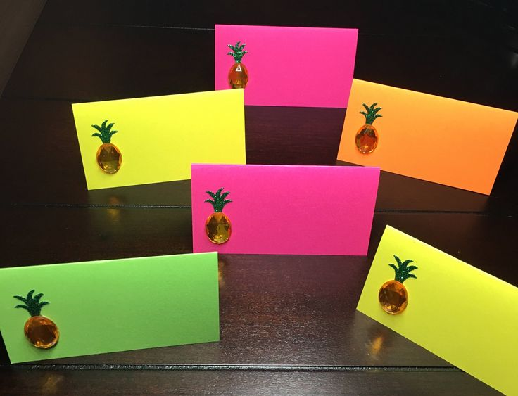 Place Card Wedding Decor Ideas || Wedding Place Cards - Escort Cards - Seat Cards - Food Labels - Tent Fold - Dessert Table Labels - Dinner Party - Name Tag - Pineapple Place Cards - Pineapple Placecards - Tropical wedding place cards - Tropical wedding - Summer wedding || wine engagement theme bridal shower baby shower tropical party sweet 16 quinceanera kids party floral https://www.etsy.com/listing/524350183/pineapple-placecards-tropical-place