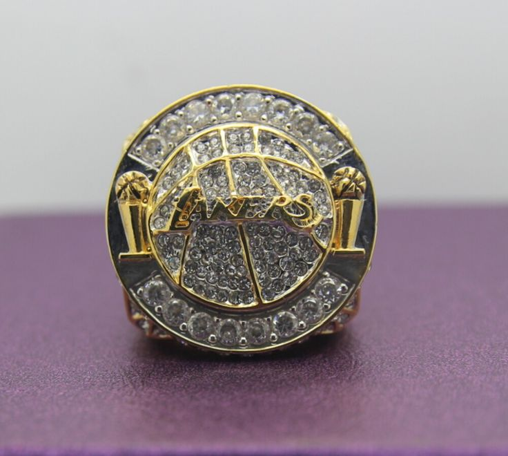 Special memoriable ring for 2010 Los Angeles Lakers basketball world championship Ring 8-14S copper ingraved inside for KOBE