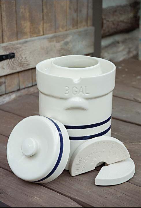 Ohio Stoneware Fermentation Crock.                                                                                Made in Zanesville, Ohio