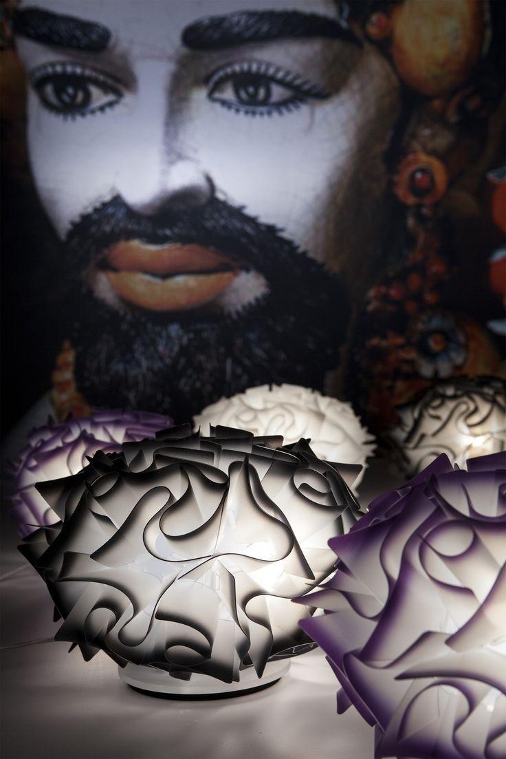 Nuove collezioni e nuove storie da #Euroluce 2015. Veli Table, firmata Adriano Rachele, fotografata con le siciliane Teste di #Moro in ceramica di Caltagirone, Italia. -------------- New collections and #New stories from Euroluce 2015. Cliza, design by Adriano Rachele, shot with the Sicilian ceramic Head, Caltagirone, Italy. Discover more: www.slamp.com