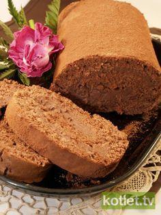 Rolada czekoladowa z kremem budyniowym