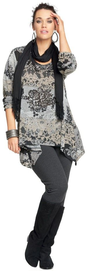 Emme Country Manor Hanky Hem - Long Sleeve Tops - even with yoga pants still look elegant