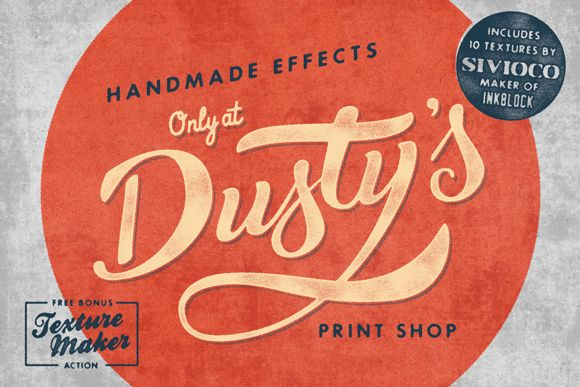 Dusty's Print Shop by Vintage Design Co. on Creative Market