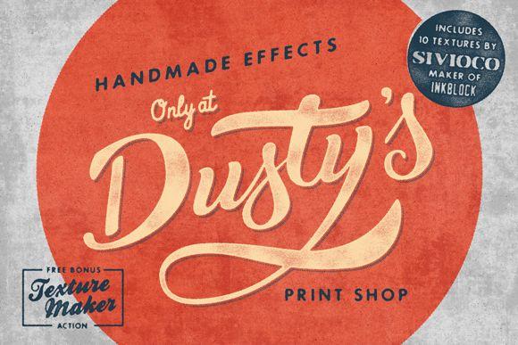 Dusty's Print Shop by Vintage Design Co. on Creative Market
