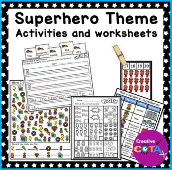 This is a Super Hero unit bundle that includes 19 themed activities for a total of 32 differentiated activities/worksheets which incorporate math, literacy, writing, fine motor, gross motor and visual perceptual skills. These activities can be used for