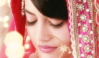 Surbhi Jyoti as Zoya in popular Indian TV Serial 'Qubool Hai' (w/ Nath in Nose)