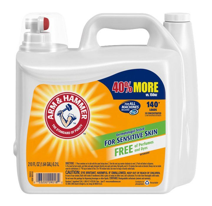 Sam S Club Arm Hammer 2x Concentrated Liquid Laundry Detergent For Sensitive Skin 210 Oz Laundry Detergent