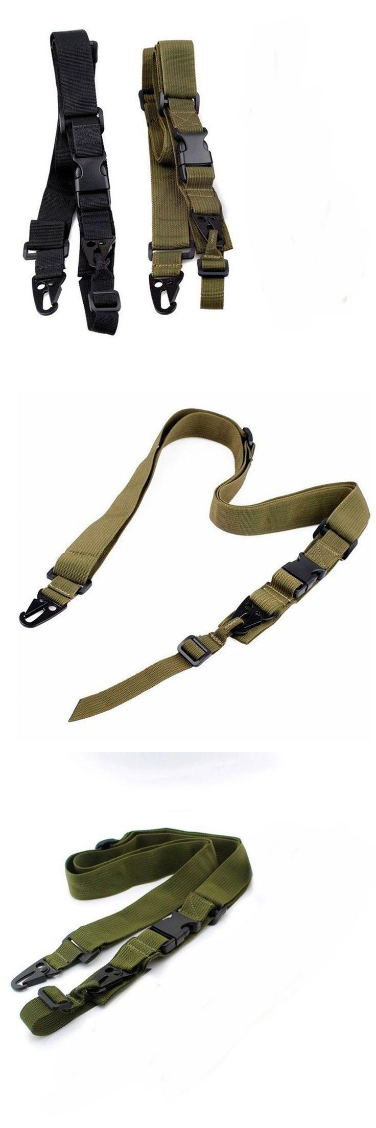 [Visit to Buy] 3 Point Airsoft Hunting Belt Tactical Military   Army Green Gear Gun Sling Strap Outdoor Camping Survival Sling ht088 #Advertisement