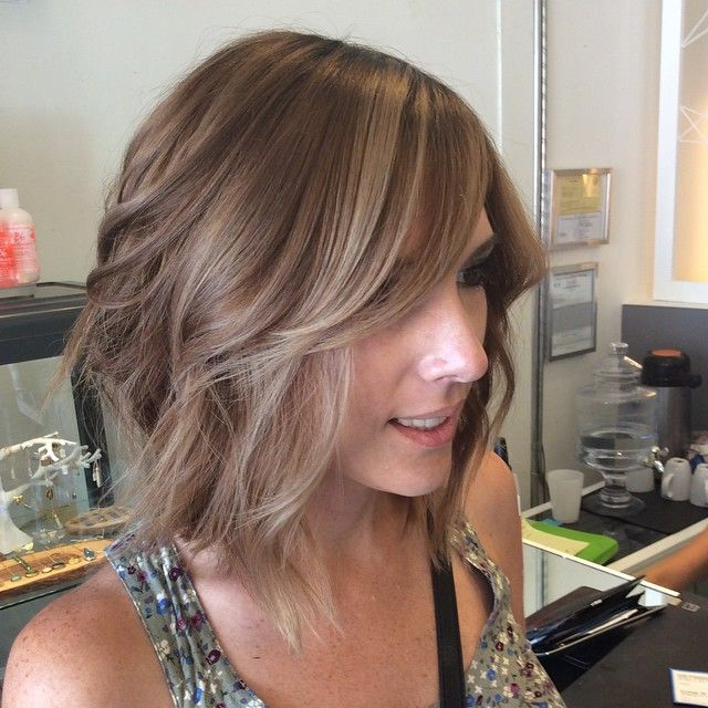 #balayage #olaplex #ashblonde #majirel #lorealprofessionnel #hairpainting #coolcoverage #andreamillerhair #longbob #sandiegosalon #colorspecialist andreamillerhair.com  took this beauty from red to blonde. Thank you @olaplex  for these beautiful results.